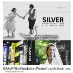 اکشن بازسازی افکت فیلم سیاه و سفید B&W Film Emulation Actions