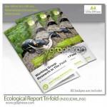 دانلود قالب آماده بروشور لایه باز ۳ لت با موضوع محیط زیست