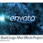 پروژه جدید افتر افکت اینترو لوگو با انفجار انرژی Energy Burst Logo