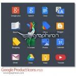 دانلود طرح لایه باز آیکون محصولات گوگل Google Products Icon PSD