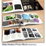 دانلود قالب لایه باز آلبوم عکس مدرن ۱۲ صفحه ای سایز A5