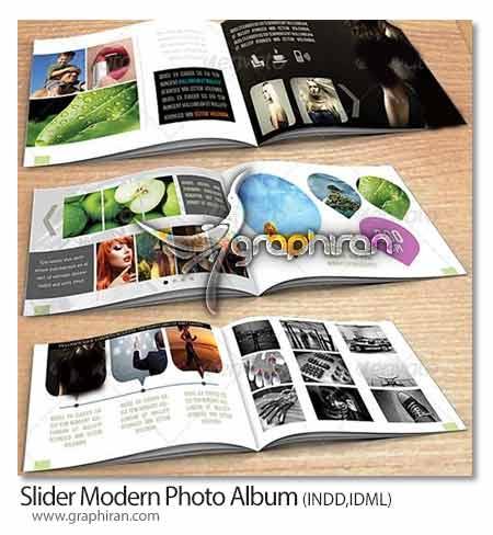 طرح لایه باز آلبوم عکس مدرن