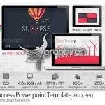 قالب آماده پاورپوینت با ۵۰ اسلاید Success Powerpoint Template