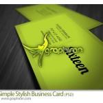 دانلود نمونه کارت ویزیت ساده و شیک فرمت PSD فتوشاپ – شماره ۱۷۸