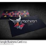 دانلود کارت ویزیت زیبا با طرح سه گوش فرمت PSD – شماره ۱۸۲