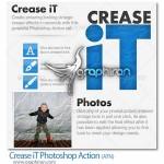 اکشن فتوشاپ ساخت افکت چین و چروک Crease iT Photoshop Action