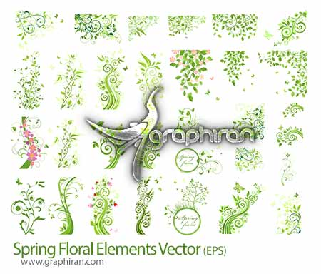 طرح گل و بوته گرافیکی