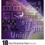 دانلود ۱۰ استایل افکت شیشه ای و شفاف فتوشاپ فرمت ASL و PSD