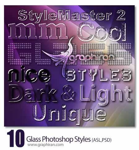 استایل شیشه ای و شفاف جدید فتوشاپ