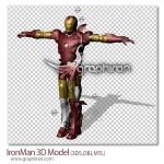 دانلود مدل ۳ بعدی شخصیت مرد آهنی Ironman 3D Model