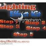 دانلود ابزار فتوشاپ ساخت افکت نور و درخشش متن Lighting Effect Kit