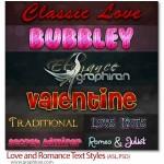 دانلود استایل های عاشقانه و رمانتیک فتوشاپ Love & Romance Style