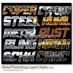 دانلود ۱۰ استایل فلزی ویژه فتوشاپ Metal Photoshop Layers Styles