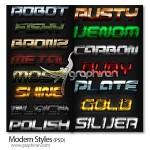دانلود استایل های مدرن و جذاب فتوشاپ Modern Photoshop Styles