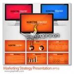 دانلود رایگان قالب پاورپوینت استراتژی بازاریابی با ۱۵ اسلاید متحرک