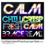 دانلود استایل های زیبای فتوشاپ Cool Photoshop Layer Styles