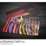 دانلود نمونه زیبای کارت ویزیت راه راه رنگی فرمت PSD – شماره ۱۷۹