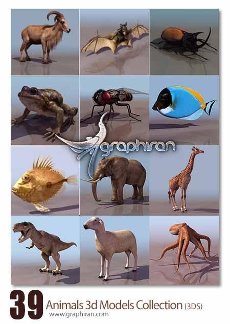 مدل های آماده 3ds Max حیوانات