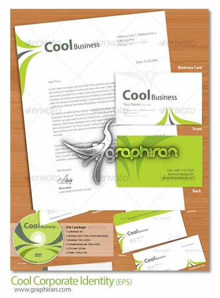 Cool Corporate Identity دانلود قالب وکتور ست اداری کامل با طراحی مدرن   شماره 72