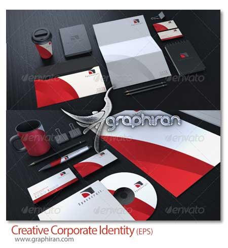 Creative Corporate Identity دانلود رایگان ست اداری جدید و کامل فرمت وکتور EPS   شماره 70