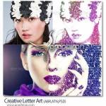 ابزار فتوشاپ تبدیل عکس به تایپوگرافی حروف Creative Letter Art