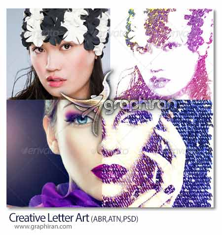 تبدیل عکس به تایپوگرافی حروف