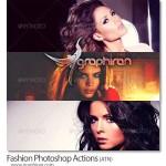 دانلود اکشن های افکت عکس فشن فتوشاپ Fashion Photoshop Actions