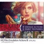 دانلود اکشن های بازسازی افکت های فیلم HQ Film Emulation Actions