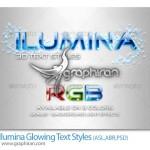 دانلود استایل درخشان و ۳ بعدی فتوشاپ Ilumina Glowing Text Styles