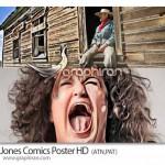 اکشن خلاقانه فتوشاپ ساخت افکت پوستر کمیک Jones Comics Poster HD