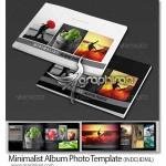 دانلود قالب لایه باز آلبوم عکس مینیمال Minimalist Album Photo
