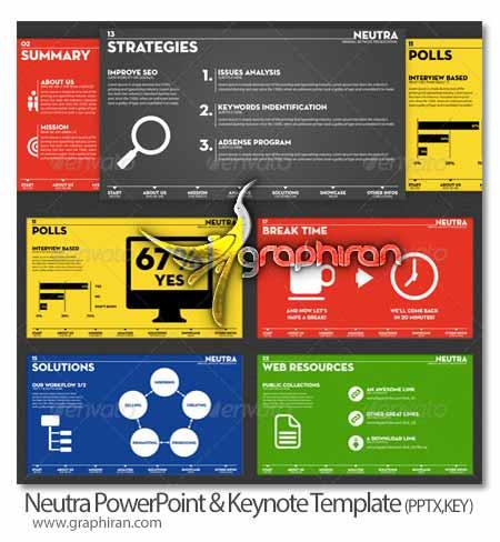 قالب آماده PowerPoint و Keynote