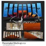 دانلود طرح ماکت افکت عکس قطعه قطعه Piecemaker Mock-up