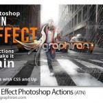 Rain Effect Photoshop Actions 150x150 اکشن فتوشاپ شکل های انتزاعی Bahar Effect Photoshop Action