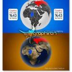 پروژه افتر افکت نمایش کشورها روی نقشه World Map Country Highlighter