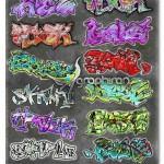 دانلود مجموعه استایل های جدید فتوشاپ افکت متن گرافیتی