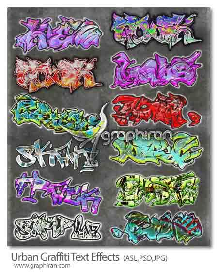 استایل های متن گرافیتی