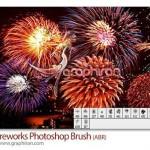 دانلود براش های آتش بازی فتوشاپ Fireworks Potoshop Brush