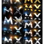 دانلود ۱۱ استایل فلزی جذاب و ویژه فتوشاپ Metallic Styles