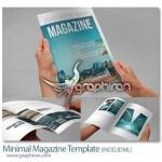 دانلود قالب لایه باز مجله مدرن با طراحی مینیمال با ۴۴ صفحه