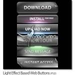 دانلود طرح های لایه باز دکمه وب سایت با افکت های نور زیبا