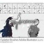 براش پاشیدن مایعات برای ایلوستریتور Splatter Illustrator Brush
