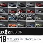 دانلود پک مدل های ۳ بعدی آماده ماشین همراه تکسچر محصول AXYZ