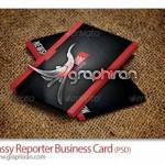 دانلود نمونه کارت ویزیت خبرنگار با طراحی مدرن و شیک – شماره ۲۰۰
