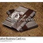 دانلود کارت ویزیت ابتکاری PSD لایه باز و وکتور – شماره ۲۰۱