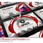دانلود کارت ویزیت موسیقی و آهنگسازی PSD لایه باز – شماره ۲۰۴