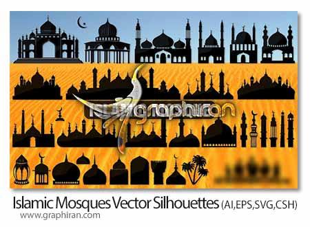 وکتور طرح مساجد اسلامی