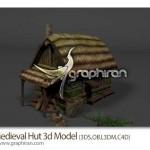 دانلود مدل سه بعدی کلبه قرون وسطایی برای ۳ds Max و Cinema 4D