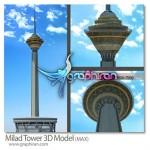 دانلود مدل سه بعدی برج میلاد برای تری دی مکس همراه با تکسچرها