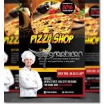 دانلود نمونه تراکت تبلیغاتی پیتزا فروشی Pizza Shop Flyer PSD